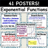 Exponential Function POSTERS (Geometric Sequence, Half- Life, and Compound Int.)