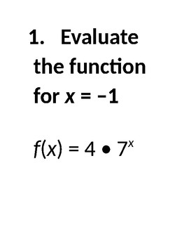 Exponential Function Stations