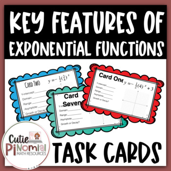 Exponential Functions Task Cards