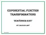 Exponential Function Transformations - Scavenger Hunt