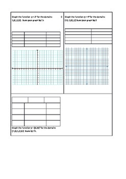 Exponential Function Worksheet