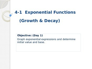 Exponential Functions