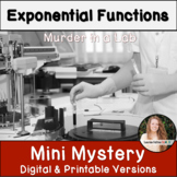 Exponential Functions Digital Activity - Mini Mystery