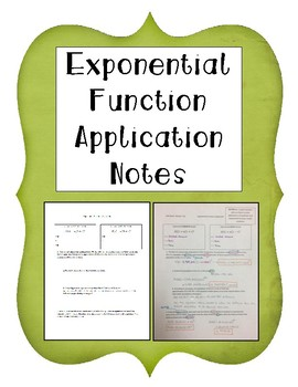 Exponential Functions Application Notes