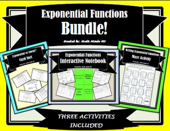 Exponential Functions Bundle!