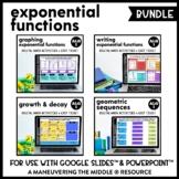 Exponential Functions Digital Math Activity Bundle | Algebra 1