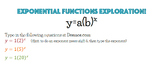 Exponential Functions Discovery using Desmos