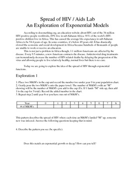 Exponential Functions Exploration Lab: Globalization and the spread of HIV