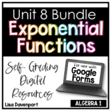 Exponential Functions- Digital Assignment BUNDLE for use with Google Forms