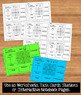 Exponential Functions Graphing & Properties Organizer Task Cards Worksheet