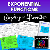 Exponential Functions Graphs+ Properties Organizer INB Pages | Distance Learning