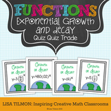 Exponential Functions Growth and Decay Quiz Quiz Trade Activity