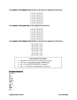 Exponential Functions (Guided Notes)