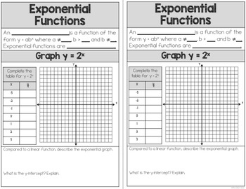 Exponential Functions - Guided Notes