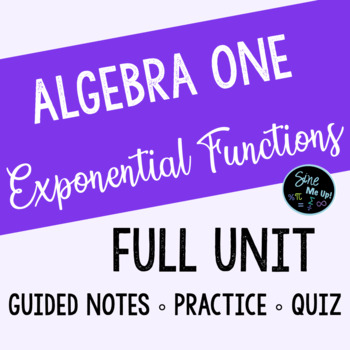 Exponential Functions Guided Notes Bundle INCLUDES ZOMBIE PROJECT