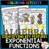 Exponential Functions (Identifying Key Features) Coloring Activity
