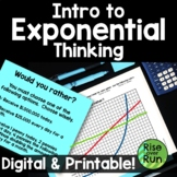 Exponential Functions Introduction Activity in Digital and Printable