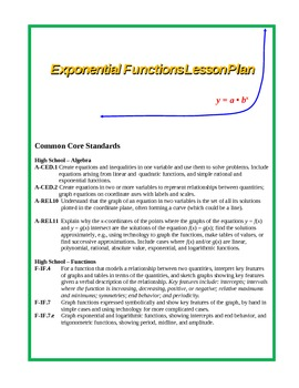 Exponential Functions Lesson Plan