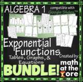 Exponential Functions Matching BUNDLE - Tables, Graphs, &