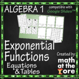 Exponential Functions - Matching - Tables & Equations - Go