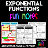 Exponential Functions Growth and Decay Fun Notes Doodle Pages