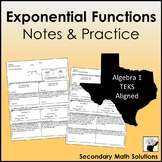 Exponential Functions Notes & Practice (A9C, A9D)