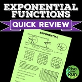Exponential Functions Quick Review Assessment