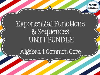 Exponential Functions & Sequences Unit Bundle