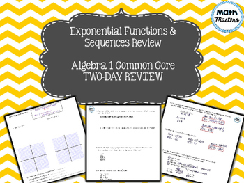 Exponential Functions & Sequences Unit Review