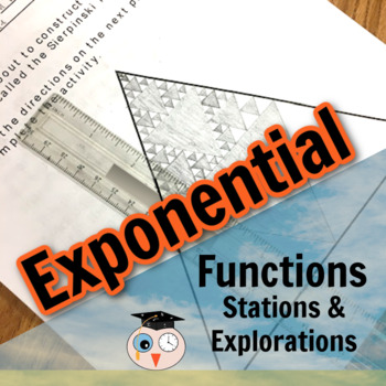 Exponential Functions: 6 Stations - Exploring Real-life Patterns and Phenomena