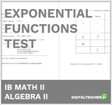 IB Math Exponential Functions Test