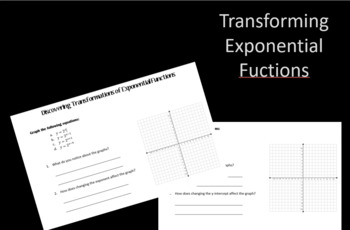 Exponential Functions Transformation Discovery Activity
