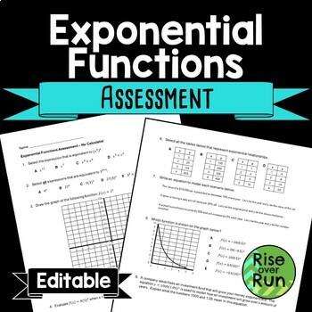Exponential Functions Unit Bundle