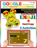 Exponential Functions Vocab 5 Activities - EMOJI Google Interactive & Hard Copy