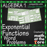 Exponential Functions Word Problems - GOOGLE Slides