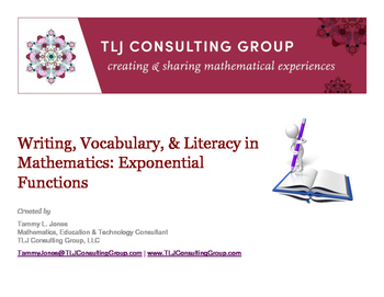 Writing, Vocabulary & Literacy in Mathematics: Exponential