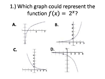 Exponential Functions and Graphs Activity