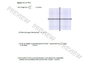 Exponential Functions and Sequences Test