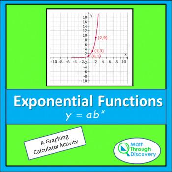 Algebra:  Exponential Functions   y = a(b^x)