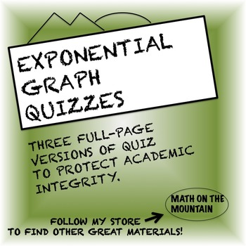 Exponential Graph Quiz