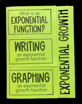 Exponential Growth (Algebra Foldable)