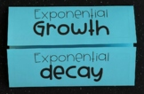 Exponential Growth & Decay (Algebra Foldable)