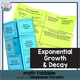 Exponential Growth & Decay Foldable