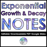 Exponential Growth & Decay Follow Along Notes