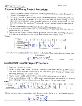 Exponential Growth/Decay Lab