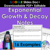 Exponential Growth & Decay Notes