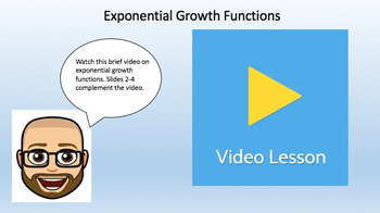 Exponential Growth Functions (Google Form, Video Lesson & Notes!)