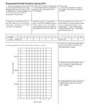 Exponential Growth Functions Spring 2014 with Answer Key (Editable)