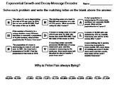 Exponential Growth and Decay Activity: Math Message Decoder