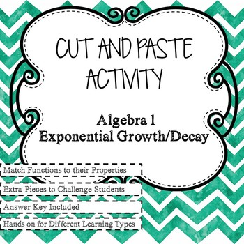 Exponential Growth and Decay Cut and Paste Activity